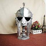 DAJIADS Estatuas,Decoracion Arte Europeo De Metal Vintage Silver Samurai Casco Romano Decoraciones Esculturas Y Estatuas Y Figuritas