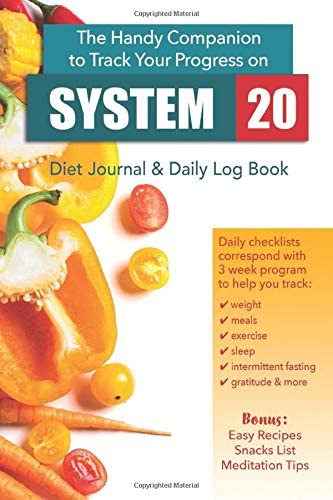 System 20 Diet Journal Daily Log Book The handy companion to track your progress on the System product image