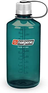 Nalgene Tritan 1-Quart Narrow Mouth BPA-Free Water Bottle, Trout Green