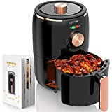 2020 New Air Fryer Mini, LOFTER 1.7 Quart Temperature Control Oven Cooker with Free Cookbook, Electric Small Airfryers Non Stick Fry Basket, 1000W