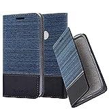 Cadorabo Funda Libro para Xiaomi RedMi Note 5A Prime en Azul Oscuro Negro - Cubierta Proteccíon con Cierre Magnético, Tarjetero y Función de Suporte - Etui Case Cover Carcasa