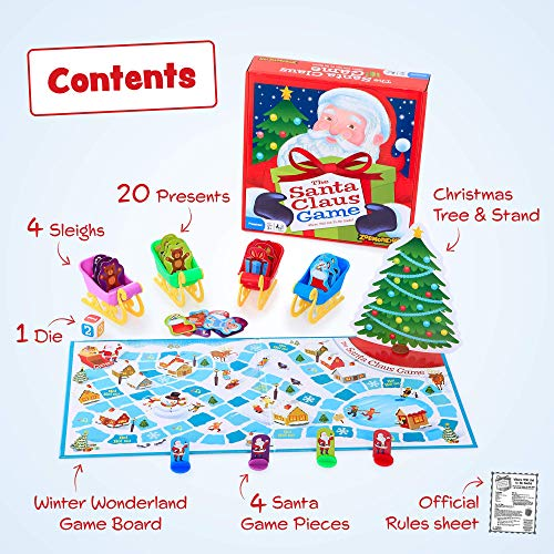 Zobmondo!! The Santa Claus Game, Great Christmas Board Game For Boys and Girls, Award-Winning Educational Game, Kids' Game for Ages 3 and Up