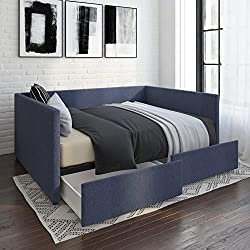 Theo Urban Daybed has underneath storage and can be used as tiny home seating.