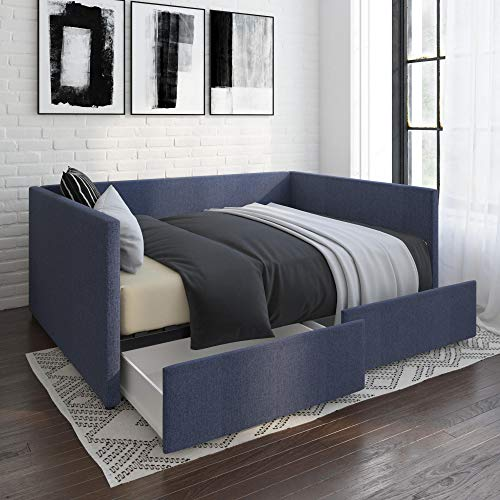 DHP Daybed with Storage Bed, Full, Blue