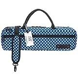 Funda para Estuche de Flauta – Bolsa Beaumont para Flauta Do - Blue Polka Dot