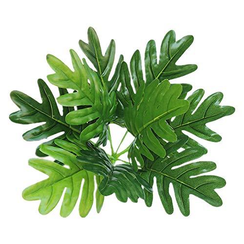 Goplnma Künstliche Pflanzen Green Turtle Blätter Garten Inneneinrichtungen 1 Bouquet Mexikanische Herbst Dekoration Kunstrasen Pflanze (Color : 9 Pieces 30cm)
