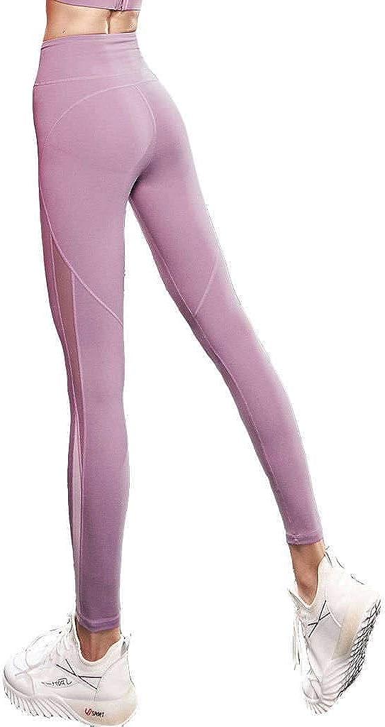 HUOLEO High Waist Mesh Splice Inexpensive Pants Leggings OFFicial Women Workout Yoga