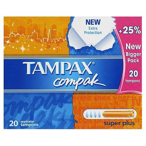 Tampax Compak tampones super plus 20 unidades