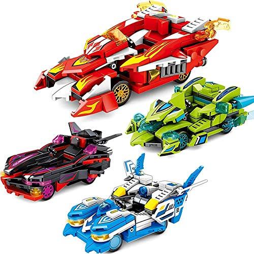 Kkoqmw EDUCACIÓN DE EDUCACIÓN Mood Ciudad Ciencia Y TECNOLOGÍA Serie Child Puzzle DIY Toys con 4 Modelos de Carreras escalables