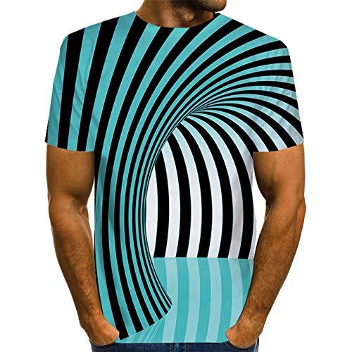 SSBZYES Camisetas De Hombre Camisetas De Cuello Redondo Estampadas para Hombre Camisetas De Talla Grande para Hombre Remolinos De Impresión Digital Camisetas De Talla Europea 3dt para Hombre
