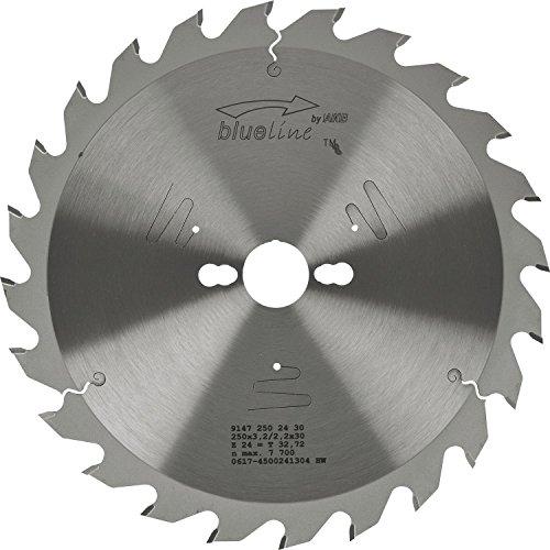 AKE 91472502430 Kreissägeblatt HW, Durchmesser 250 x 2,8 x 30 mm Z24 Wechselzahn, positiv