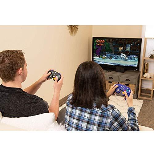 HUDEMR Gamepads Game Controller Gamepad sans Fil Bluetooth Peut être utilisé for Ordinateurs Mobiles Noir Violet contrôleur Joystick (Color : Purple, Size : M)