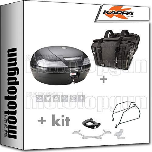 kappa maleta k49nt + alforjas laterales ra316bk compatible con suzuki gsx-s 1000 f 2020 20