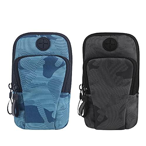 Lumanby Bolsa de brazo para teléfono deportivo para correr al aire libre, impermeable, para pantalla de 5 pulgadas a 7 pulgadas