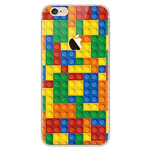 Funda de gel de poliuretano termoplástico suave de BubbleGum para iPhone con diseño de píxeles, 5: Leg0, Iphone 6 Plus