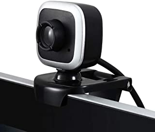 WXFXBKJ 480P HD Webcam, Clip-on Computer USB Built-in Microphone Video Call Webcast Camera for PC Laptop, External Confere...
