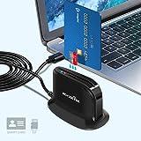 Rocketek Lettore di Smart Card USB Dod Adattatore per Lettore di schede CAC di Accesso Comune USB Militare | Carta d'identità/Chip di Banca IC | Lettore di schede Micro SD, Lettore di schede CAC