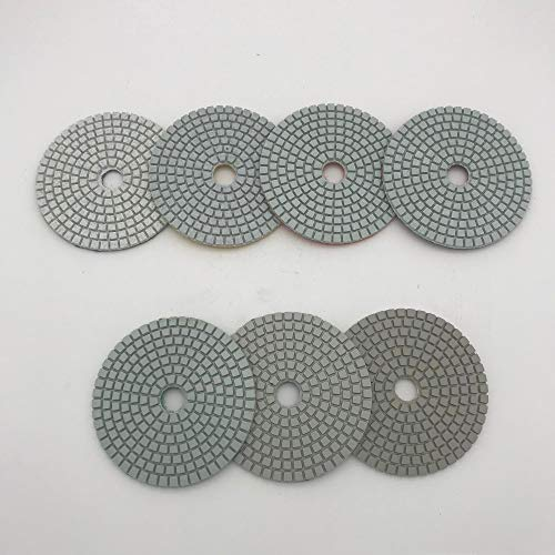 Polishing Pad Diamond Polishing Pad 4 Inch (100 mm) Disc Sander Pad Wet 3 mm Thickness Granite Marble Tile Concrete Polishing Disc 100 Pcs/Lot - (Size: 4 Inches; 100 Pcs)
