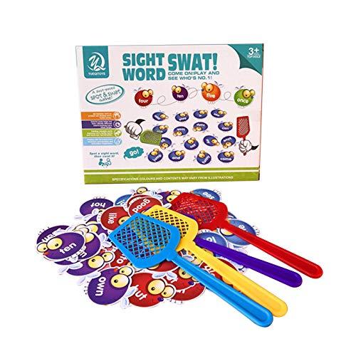 Househome Juego de palabras, escuela en casa, aprendizaje visual, táctil y auditivo, juegos fonéticos, juguetes de Montessori, juego de niños familia/amigos y el Coaching