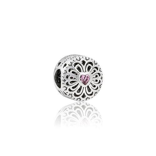 Pandora Sterling Silver Love   Friendship Charm 791955PCZ ea2f9593eb