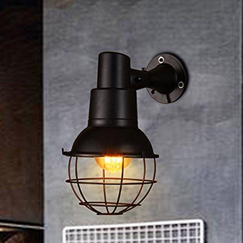 ZWL Rétro lampe murale en fer Chemin d'escalier de l'allée Lampes et lanternes créatives Loft Theme Restaurant Bar Single Head E27 15 * 30CM mode (Couleur : #1)