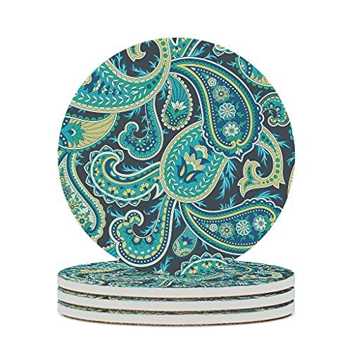 Posavasos de cerámica antigua Inca maya duradera cerámica retro taza de té posavasos lindos se adapta al aire libre blanco 6 piezas
