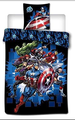 Marvel Avengers Kids Duvet Cover and Pillow case Set