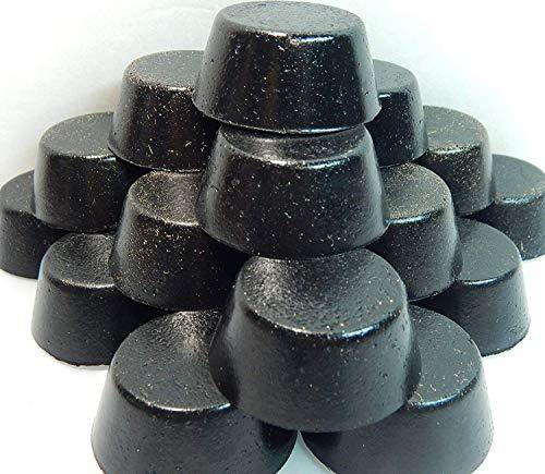 4 Small Black Sun Orgonite Tower Busters - EMF Protection, Chakra Healing, Rose, Amethyst, Citrine & Clear Quartz Crystal Gemstones, Powerful Orgone Energy Accumulator (4 Mini TB Pucks)
