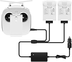 IRCtek 6A 3 Channels Intelligent Car Charger for DJI Phantom 4 Pro V2.0 / pro+ / pro/adv + / adv / 4, Charge Remote Controller and 2 Batteries (New)