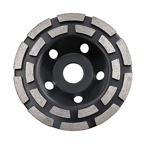 NUZAMAS 7' Double-Row Diamond-Cup Grinding-Wheel 180mm Discs for for Concrete and Paint, Epoxy, Mastic, Coating Removal