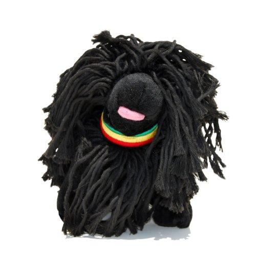 FAB Hund Puli Rasta Plüsch Hundespielzeug, schwarz,