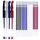 4 Colors Heat Erase Pens with 20 Pieces Heat Erasable Fabric Marking Free Refills for Sewi...