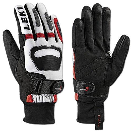 LEKI Ski Handschuhe Langlauf Shark Worldcup Edition (weiß-rot-schwarz, 6.0)