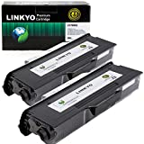LINKYO Compatible Toner Cartridge Replacement for Brother TN650 TN-650 TN620 (Black, High Yield, 2 Pack)