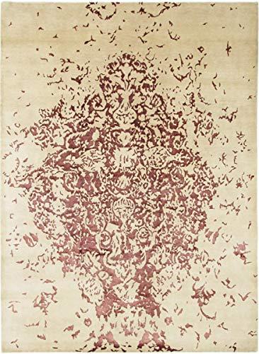 Nain Trading Amazona 344x250 Tapis Oriental Beige/Rose Noués à la Main Inde Design Moderne