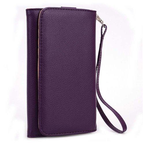 Kroo Cartera de Mano Tipo Billetera para Smartphones de hasta 6', Color púrpura