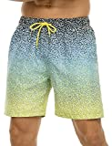 Nonwe Men's Beach Trunk Relaxed Fit Soft Washed Rainbow Gradient...