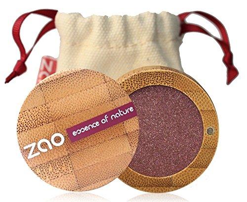 ZAO Pearly Eyeshadow 104 garnet granatrot bordeauxrot weinrot Lidschatten schimmernd / Perlglanz in nachfüllbarer Bambus-Dose