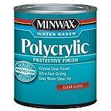 Minwax 255554444 Minwaxc Polycrylic Water Based Protective Finishes, 1/2 Pint, Gloss