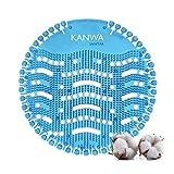 KANWA® Urinal-Sieb mit frischen Duft einer Baumwollblüte - Spritzschutz mit Urinkontrolle für alle gängigen Urinal, Pissoir und Badezimmer - Urinalsieb 6 Stück