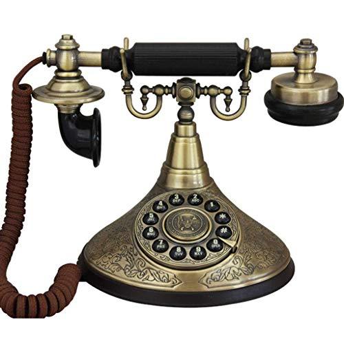 BGSFF Teléfonos retro de moda, teléfono antiguo europeo, teléfono fijo fijo con función de reenvío para oficina, sala de estar, decoración del hogar, A