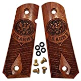 Dan Eagle 1911 Grips Full Size Exotic Solid Rosewood Fits Government and Commander US Army Design