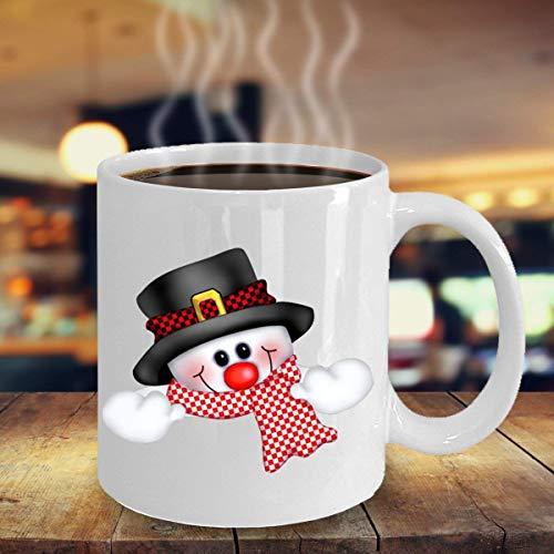 N\A Schneemann-Becher Schneemann-Kaffee-Becher Schneemann-Becher-saisonale Becher Winter-themenorientierter Becher Schneemann-Liebhaber-Becher Kaffee-Tee-Kakao-Becher