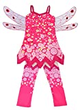 Dressy Daisy Girls' Fairy Fancy Dress Costume Birthday Halloween Christmas Fancy Party Outfit with Wings & Pants Size 6X-8 Mia