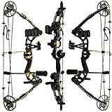 RAPTOR Compound Hunting Bow Kit: LIMBS MADE IN USA | Fully adjustable 24.5-31 Draw 30-70 LB pull | Up to 315 FPS | WARRANTY & 100% 30 day GUARANTEE |5 Pin Lighted Sight, Biscuit Rest | Camo RH