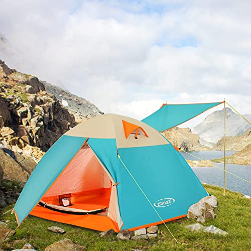 ZOMAKE Lightweight Backpacking Tent, 2 Person Tents for Camping Waterproof Tent Easy Setup Great for Outdoor, Hiking, Mountaineering