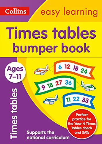Times Tables Bumper Book Ages 7-11: KS2 Maths Home Learning and School Resources from the Publisher of Revision Practice Guides, Workbooks, and Activities.