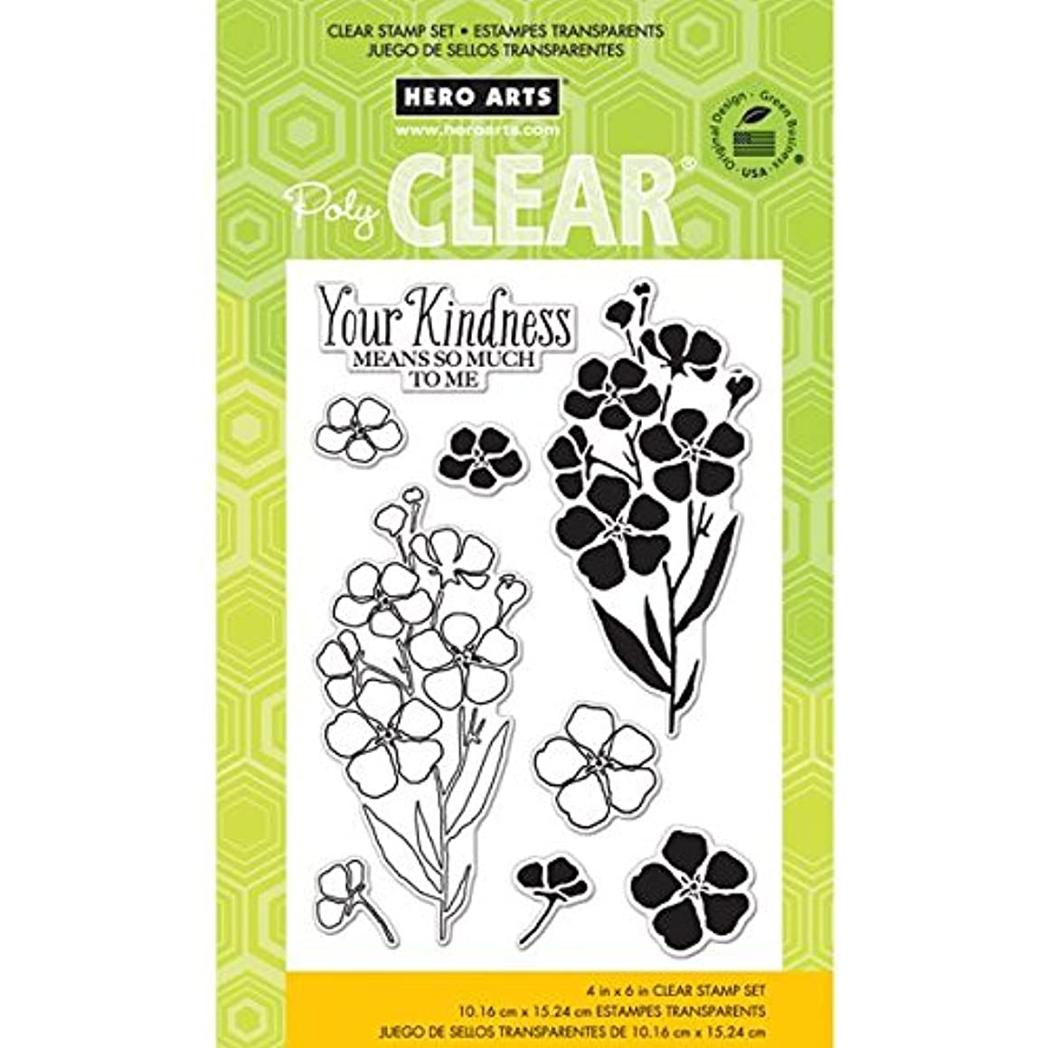 Hero Arts Night and Day Flowers Clear Stamp Set