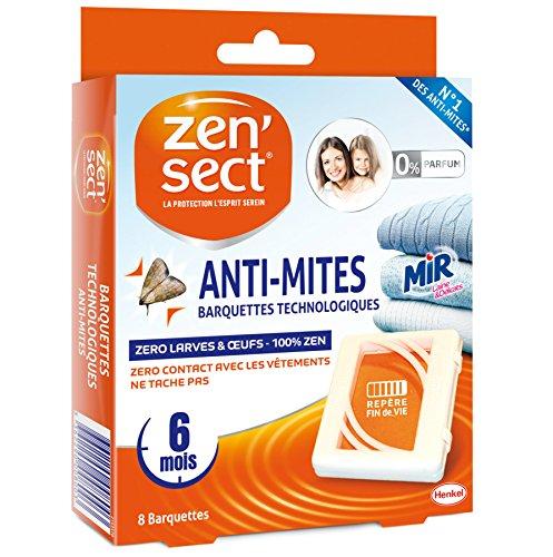 Zen'Sect Anti-Mites Textiles Barquettes Technologiques - 8 Barquettes