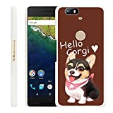 Huawei Google Nexus 6P Case Corgi,Gifun Slim White Hard
